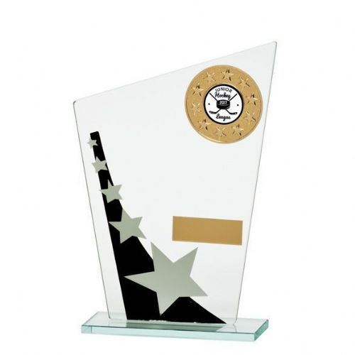 Mega Star Multisport Jade Glass Award Black & Silver 185mm